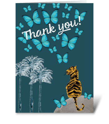 Thank You Tiger greeting card