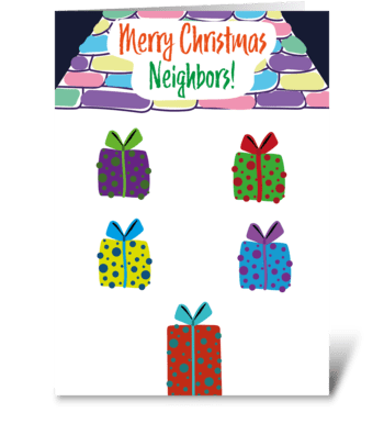 88 Neighbors Christmas greeting card