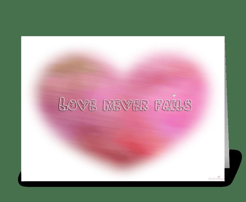 Blurred heart greeting card