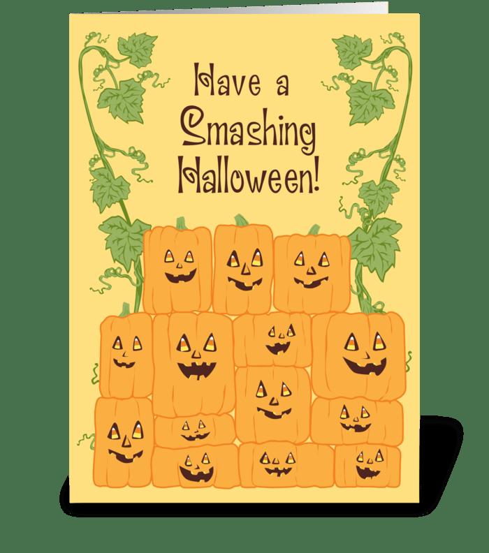 Smashing Halloween! greeting card