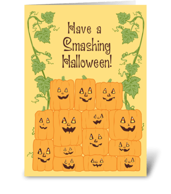 Smashing Halloween! greeting card