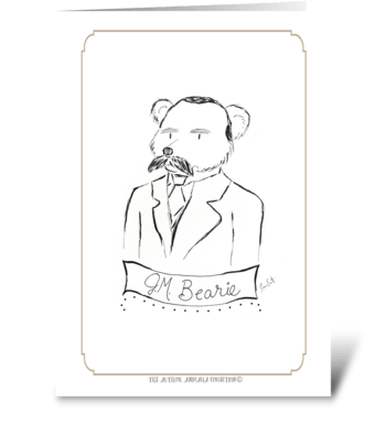 The Author Animalia Collection: Bearie greeting card