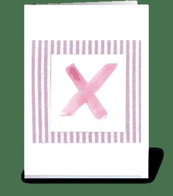 X - Baby Girl greeting card