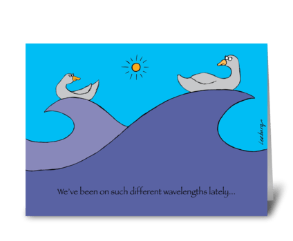 Different Wavelengths greeting card
