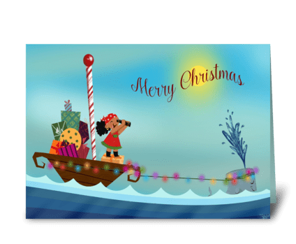 A Pirate's Christmas greeting card