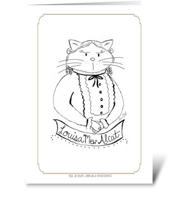 The Author Animalia Collection: Louisa greeting card