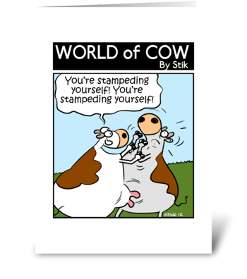 Self Stampeding greeting card