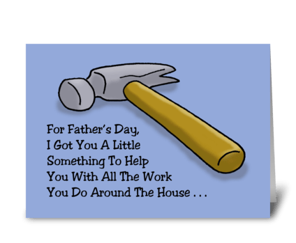 A Little Something For Father's Day greeting card