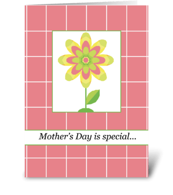 Mother's Day Single Flower greeting card