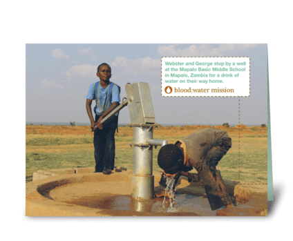 Blood:Water Mission  - Zambia greeting card