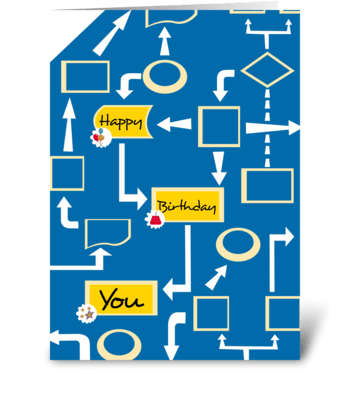 Flow Chart - Happy Birthday greeting card