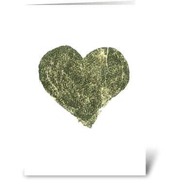 Gold Leaf - Heart greeting card