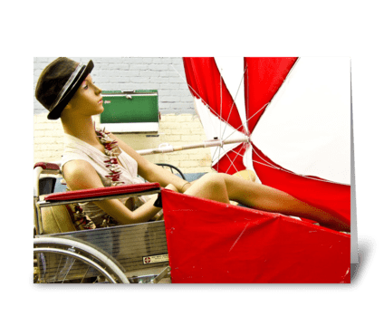 Mannequin In Wheelchair greeting card