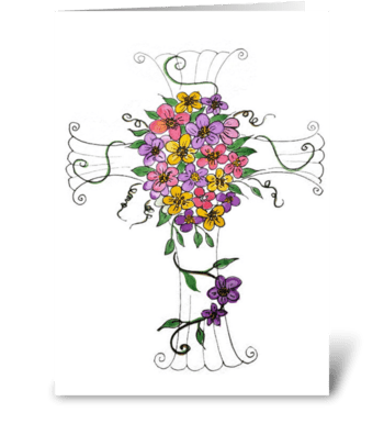 Easter or Sympathy Watercolor Card  greeting card