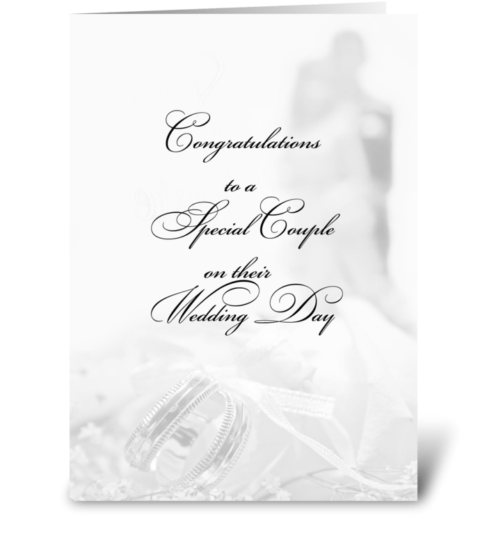 Wedding Fade Congratulations greeting card