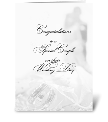 Wedding Fade Congratulations greeting card