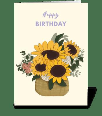Sunflower Floral Arrangement  greeting card