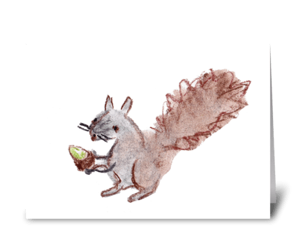 The Giving Squirrel greeting card