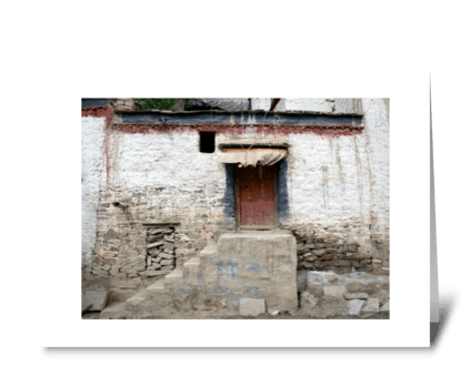 Travels in Tibet greeting card