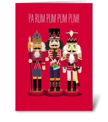 Nutcrackers greeting card