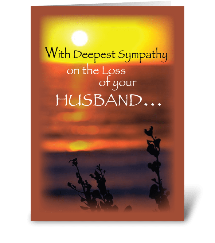 Husband, Sympathy, Sunset  greeting card