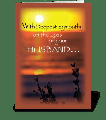 Husband, Sympathy, Sunset  greeting card