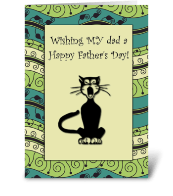 Happy Father's Day Cat Card greeting card
