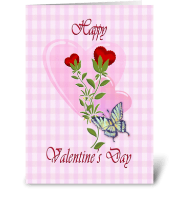 Valentines and Butterfly greeting card