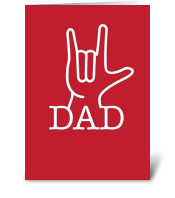 Dad Love greeting card