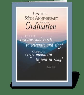 55th Anniversary of Ordination Congrats greeting card