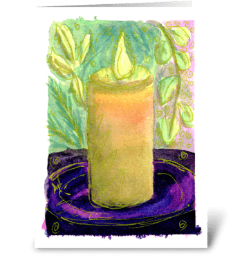 Thinking of You Candle greeting card
