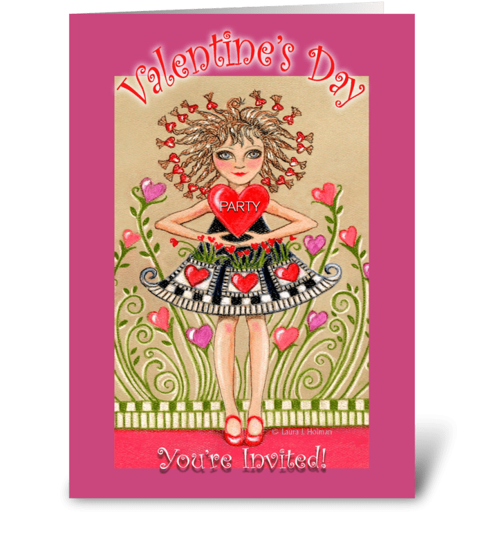 Valentine's Day Party Invitation greeting card