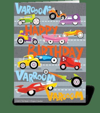 Hot Rod Birthday greeting card