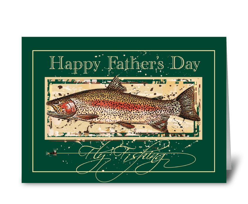 Dad's Catch greeting card