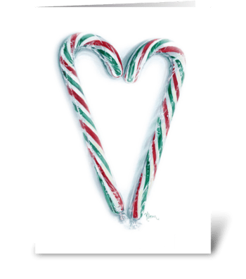 With love at Christmas greeting card