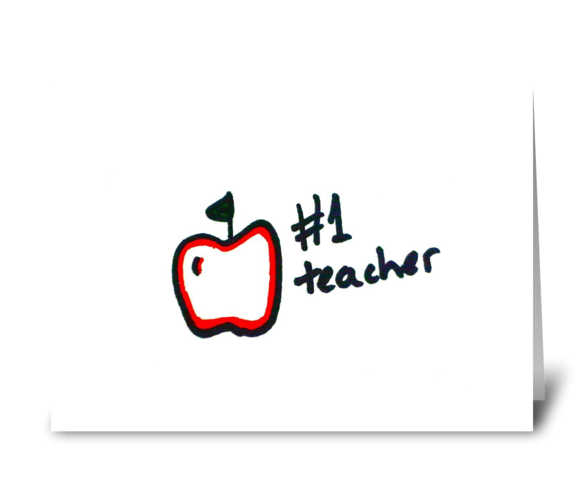 #1 Teacher greeting card