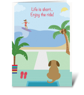 Surf's Up! greeting card