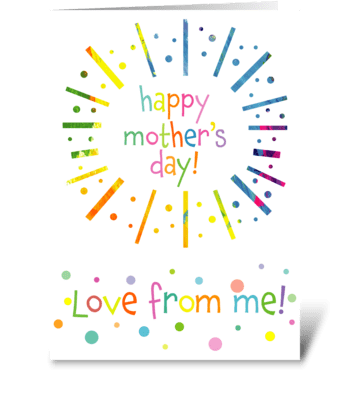 136 Mother's Day From Me greeting card