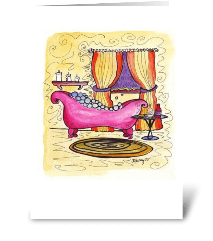 Pink Cottage Series: Relax! greeting card