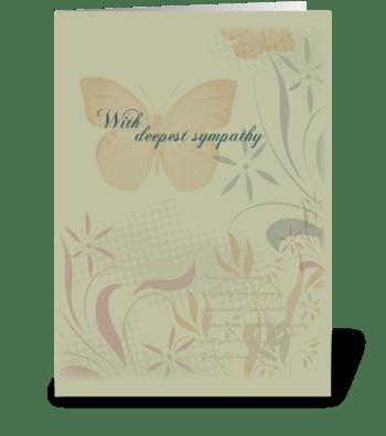 Butterfly Organic Sympathy greeting card