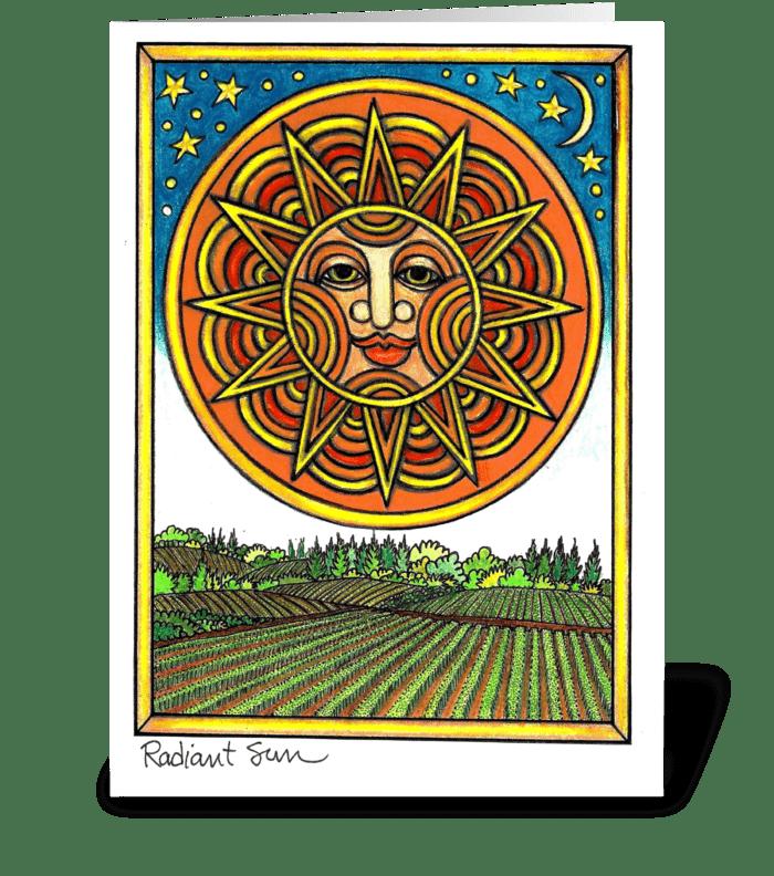Radiant Sun greeting card