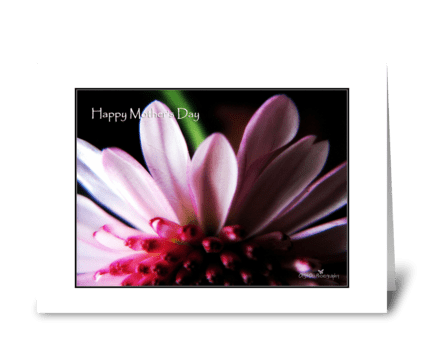 Happy Mother's Day petals greeting card