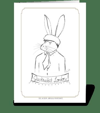 The Author Animalia Collection: Rabbit greeting card