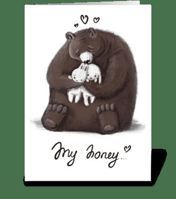 My honey greeting card