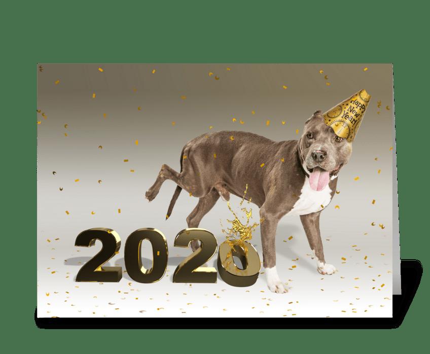 Goodbye to 2020 greeting card