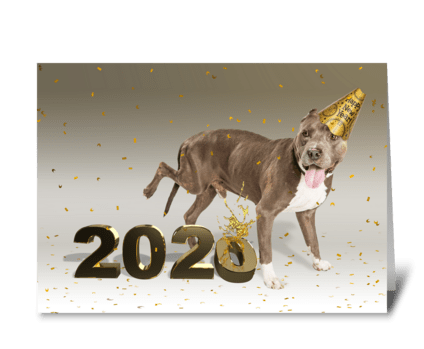 Goodbye to 2020 greeting card