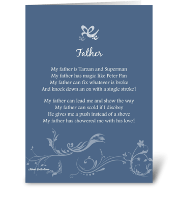 Poetry Father greeting card