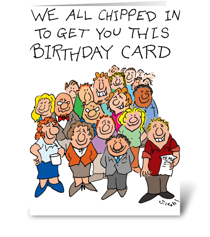 Chipped In greeting card