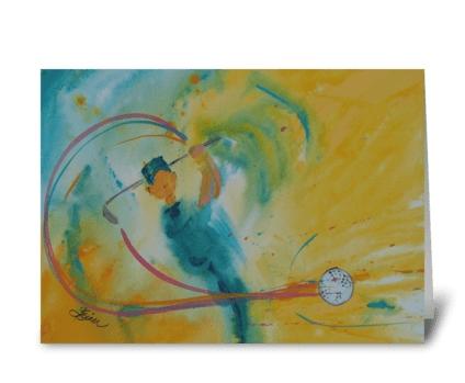 Fore! greeting card