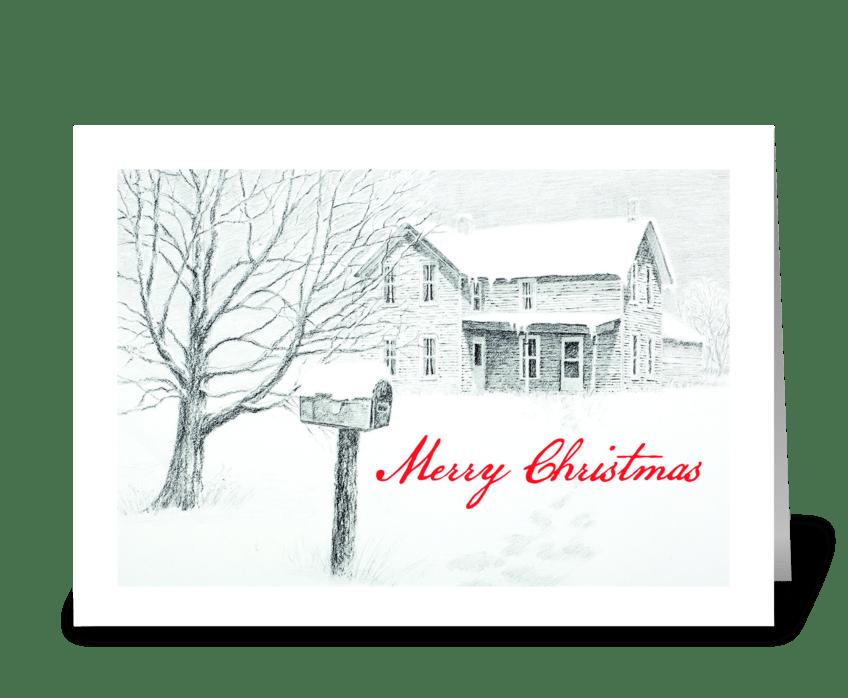Christmas Message greeting card